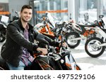 ready to hit the road. happy... | Shutterstock . vector #497529106