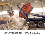 Truck Dumps Waste To The...