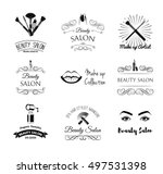 beauty salon design elements in ... | Shutterstock .eps vector #497531398