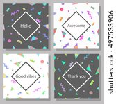 set of artistic colorful... | Shutterstock .eps vector #497533906