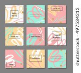 set of artistic colorful... | Shutterstock .eps vector #497534212