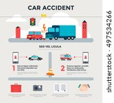 car accident on the road....   Shutterstock .eps vector #497534266