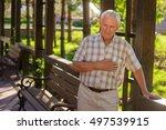 senior man having heart ache.... | Shutterstock . vector #497539915