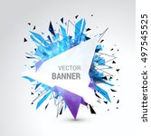 White Origami Paper Banner...