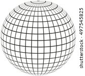 ball with lines earth globe...   Shutterstock .eps vector #497545825