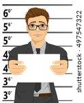 arrested businessman posing for ... | Shutterstock .eps vector #497547322