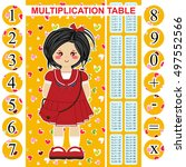 vector multiplication table.... | Shutterstock .eps vector #497552566
