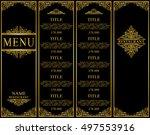 vintage design of restaurant... | Shutterstock .eps vector #497553916