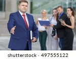 well dressed business team... | Shutterstock . vector #497555122