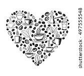 heart shape filled by hand...   Shutterstock .eps vector #497555548