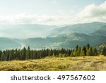 ukraine karpaty mountain... | Shutterstock . vector #497567602