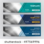 abstract banner design... | Shutterstock .eps vector #497569996