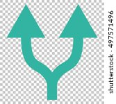 split arrows up vector icon.... | Shutterstock .eps vector #497571496
