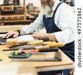 carpenter craftsman handicraft... | Shutterstock . vector #497571862