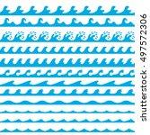 waves vector set. vector... | Shutterstock .eps vector #497572306