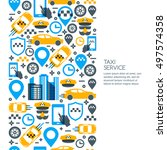 taxi service mobile app concept.... | Shutterstock .eps vector #497574358