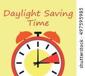 daylight saving time | Shutterstock .eps vector #497595985