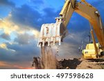 excavators machine in... | Shutterstock . vector #497598628