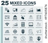 set of 25 universal icons on... | Shutterstock .eps vector #497605876