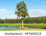 landscape view of mae puem...   Shutterstock . vector #497609212