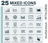 set of 25 universal icons on... | Shutterstock .eps vector #497612806