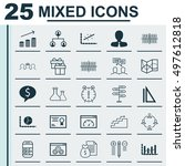 set of 25 universal icons on... | Shutterstock .eps vector #497612818