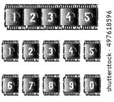 a set of photographic film with ... | Shutterstock .eps vector #497618596