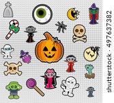 vector set of stickers badges... | Shutterstock .eps vector #497637382