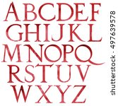 Classical Red Watercolor Font...