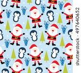 cute christmas celebration... | Shutterstock .eps vector #497640652