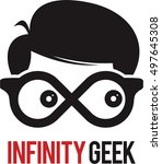 infinity loop geek logo icon...   Shutterstock .eps vector #497645308