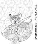 indonesian dancer. doodle art | Shutterstock .eps vector #497650918