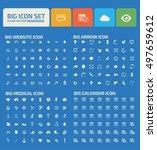 big icon set design clean vector | Shutterstock .eps vector #497659612