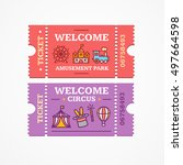 welcome circus and amusement... | Shutterstock .eps vector #497664598