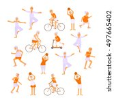 healthy active lifestyle... | Shutterstock . vector #497665402