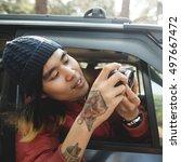 photographer camera man... | Shutterstock . vector #497667472