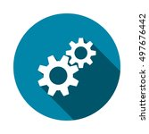 gear icon vector | Shutterstock .eps vector #497676442
