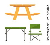 Colorful Wooden Camping Table...