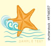 Starfish. Summer Card.