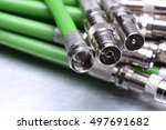 coax tv cable | Shutterstock . vector #497691682