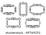 vintage frame in victorian... | Shutterstock . vector #49769251