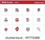 web icons set   firebrick series | Shutterstock .eps vector #49770388