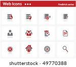 web icons set   firebrick series | Shutterstock .eps vector #49770388