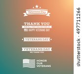 collection of various veterans... | Shutterstock .eps vector #497711266