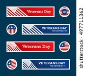 set of veterans day banners and ... | Shutterstock .eps vector #497711362