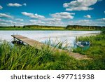 Beautiful River Landscape With...