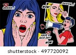 set of punk patches and... | Shutterstock .eps vector #497720092