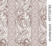 seamless paisley background.... | Shutterstock .eps vector #497720782