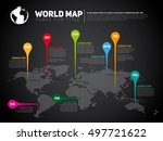 simple world map infographic... | Shutterstock .eps vector #497721622
