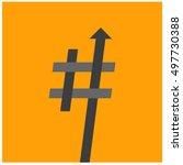 trending hashtag  art vector... | Shutterstock .eps vector #497730388